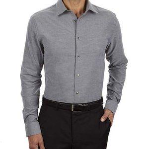 Geoffrey Beene Mens Black Ink Slim Fit Shirt SZ S